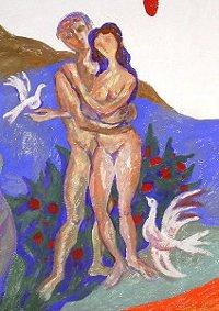 Eva-Bild in der Kapelle von St. Albertus Magnus