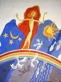 Noah-Bild in der Kapelle von St. Albertus Magnus