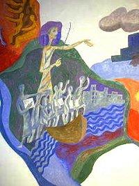 Exodus-Bild in der Kapelle von St. Albertus Magnus