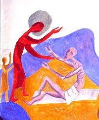 Bettler-Bild in der Kapelle von St. Albertus Magnus
