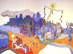 Karfreitags-Bild in der Kapelle von St. Albertus Magnus