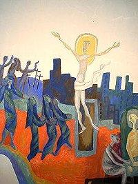 Auferstehungs-Bild in der Kapelle von St. Albertus Magnus