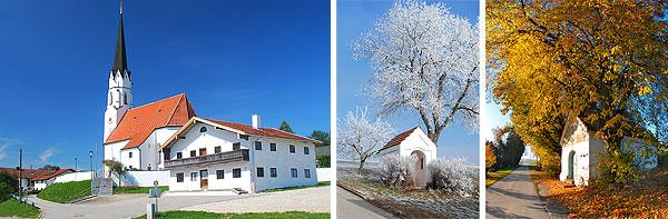 St. Johannes Aspertsham, Kapellen in Hargassen und Braunrott