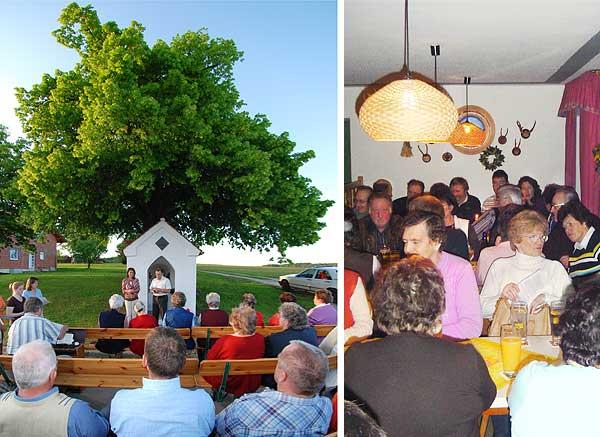 Maiandacht in Wiesling,  Pfarrversammlung