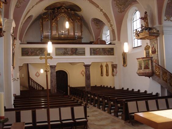 Mittergars Kirche Empore