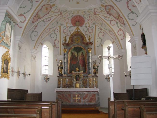 Unterzarnham Kirche innen