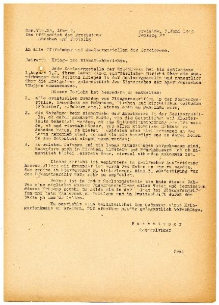 Originalexemplar des Berichts