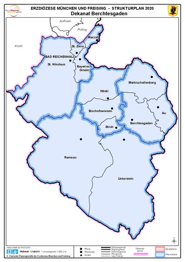 Karte Dekanat Berchtesgaden