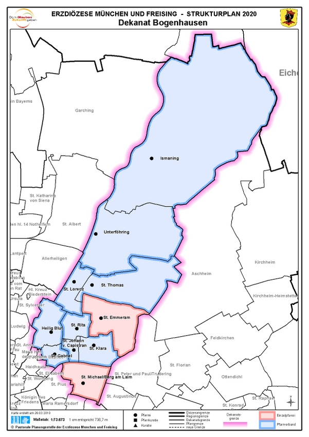 Karte Dekanat Bogenhausen
