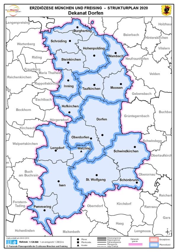 Karte Dekanat Dorfen