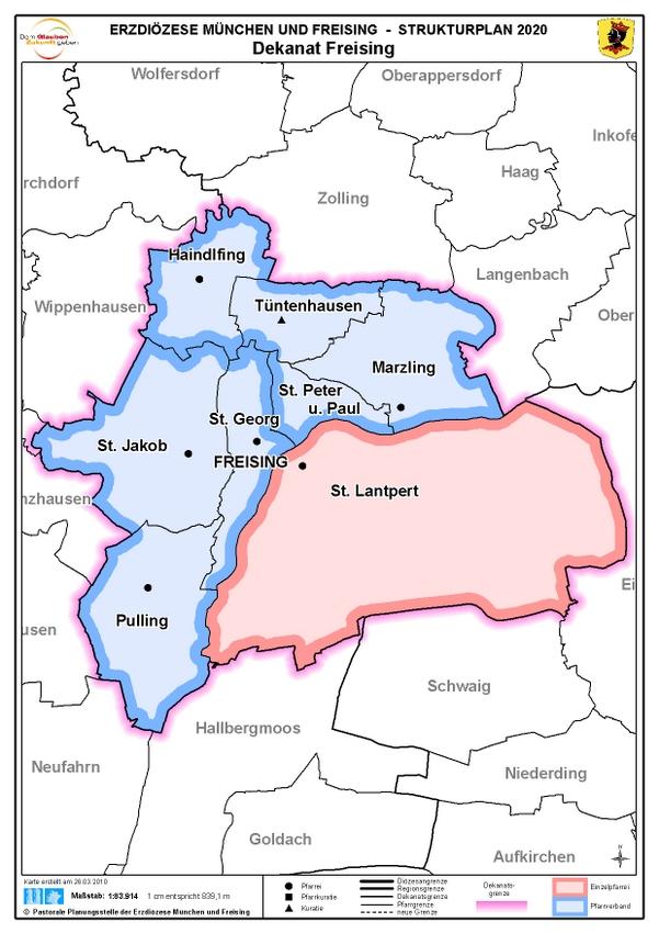 Karte Dekanat Freising