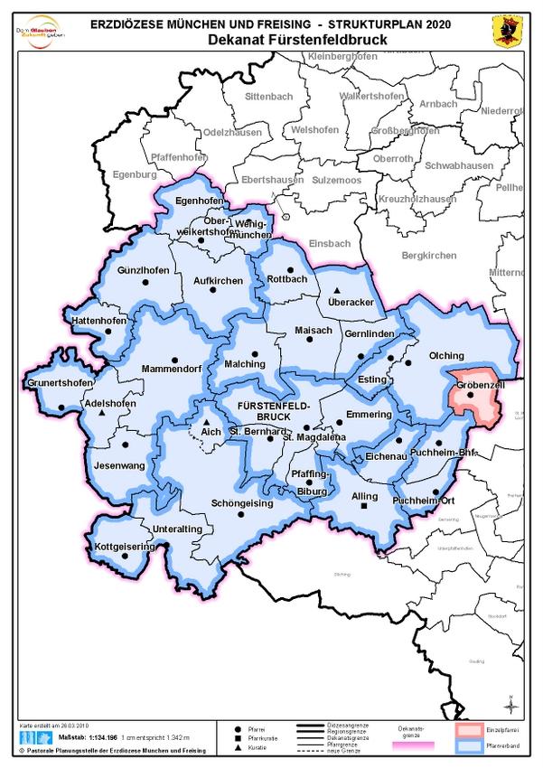 Karte Dekanat Fürstenfeldbruck