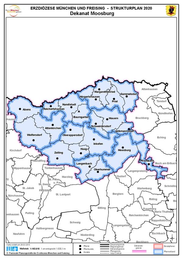 Karte Dekanat Moosburg