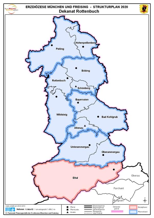 Karte Dekanat Rottenbuch