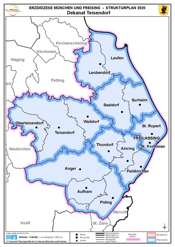 Karte Dekanat Teisendorf