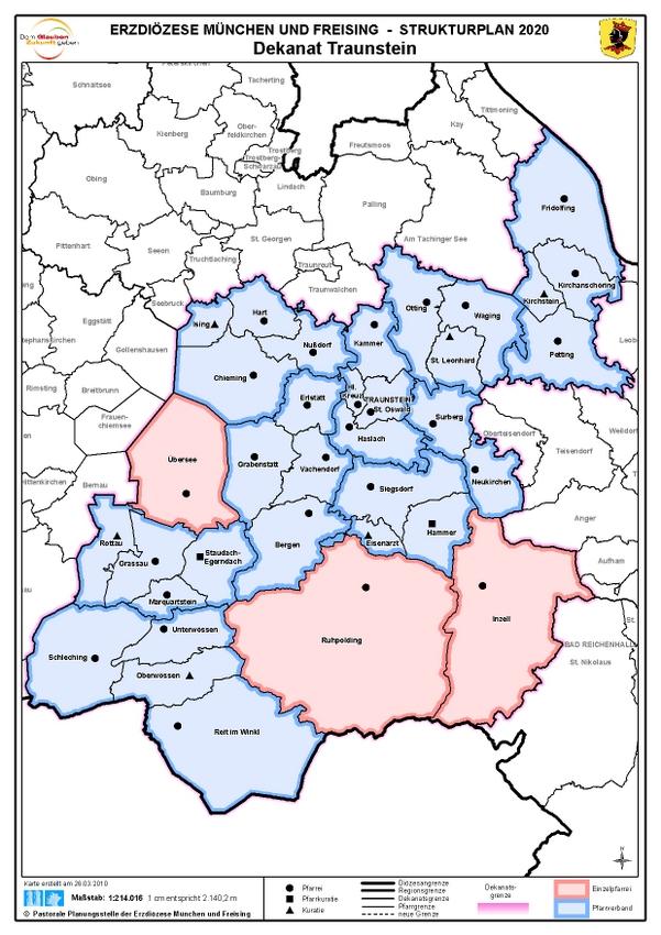 Karte Dekanat Traunstein