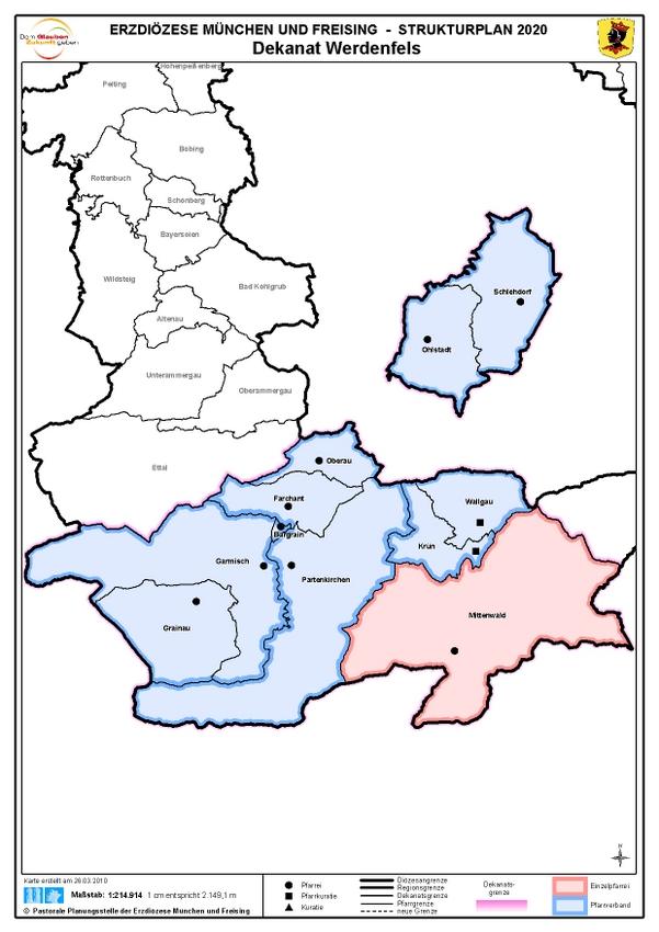 Karte Dekanat Werdenfels