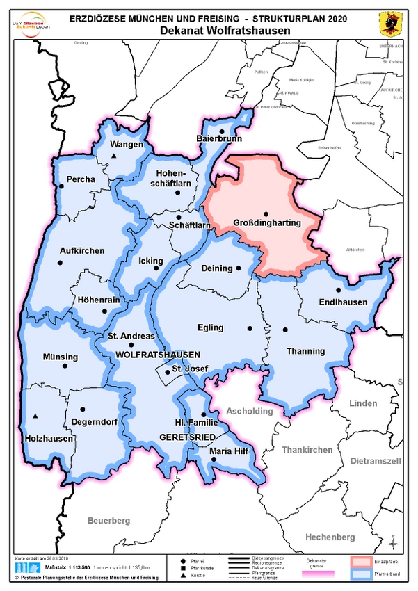 Karte Dekanat Wolfratshsn.