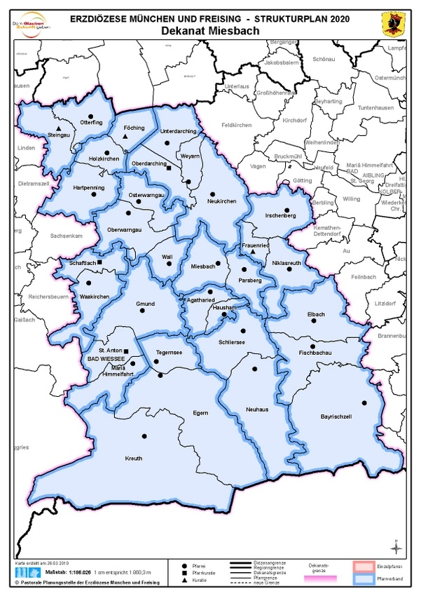 Karte Dekanat Miesbach