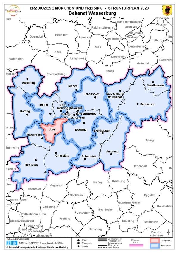 Karte Dekanat Wasserburg