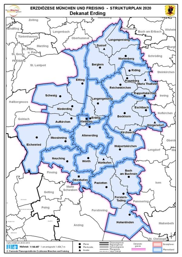 Karte Dekanat Erding