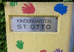 Kindergarten St. Otto Eingangsschild