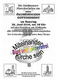 Einladungsplakat Ökumenischer Gottesdienst 2010