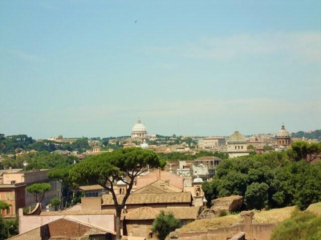 Blick vom Palatin über Rom