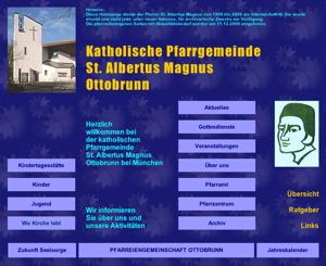 Alte Homepage von St. Albertus Magnus
