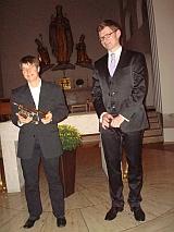 Solisten des Kirchenkonzerts am 14.09.2011 (Koscielny, Orgel; Kunert, Trompete)