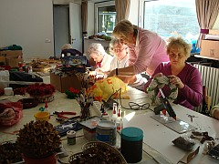 Vorbereitung Adventsbazar in St. Otto