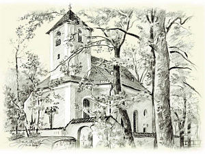 Zeichnung St. Anna von Martin Oszity