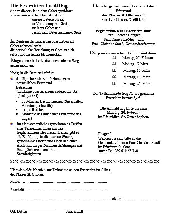 Folder Exerzitien im Alltag 2