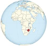 Weltkarte mit Zimbbwe und Allach