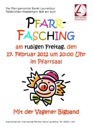 Plakat Pfarrfasching 2012