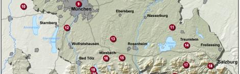 Bistumskarte Pilgerwege