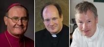 Weihbischof Bernhard Haßlberger, Bischofsvikar Rupert Graf zu Stolberg, Monsignore Thomas Schlichting