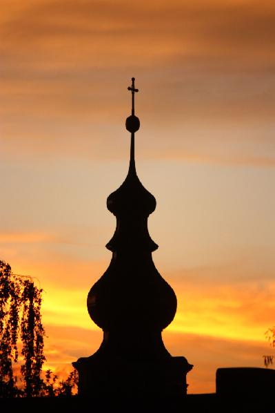 2012 Kirchturm Sonnenuntergang