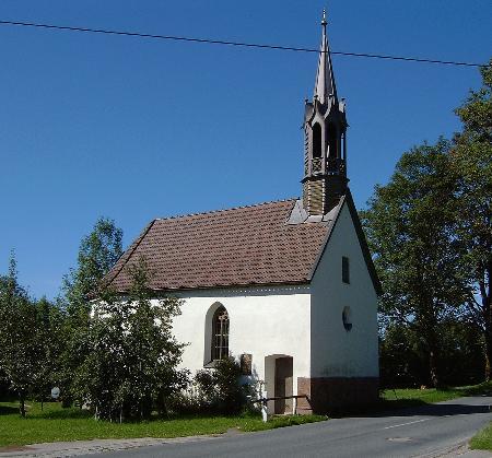"""Kapelle """"Zum abgebrannten Kreuz"""" in Gaißach-Puchen"""
