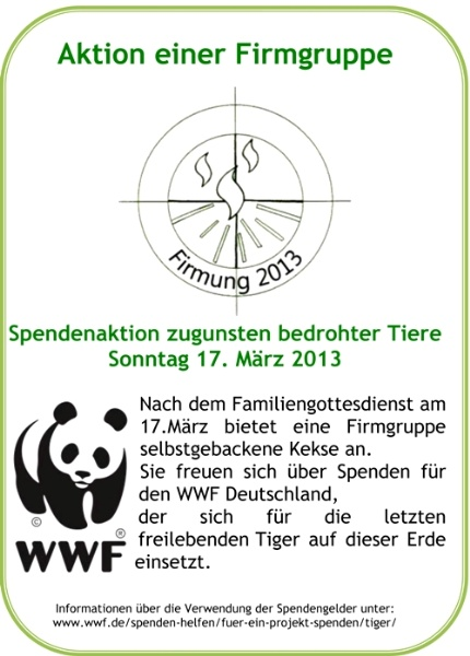 Spendenaktion Firmgruppe