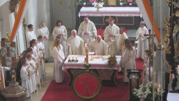 Oberbergkirchen Pater Redl<br/>50. Jähriges Priesterjubiläum