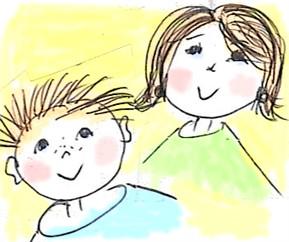 Zeichnung Bub / Mädchen
