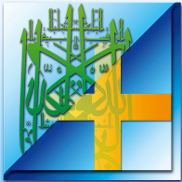 Kreuz und islamisches Zeichen