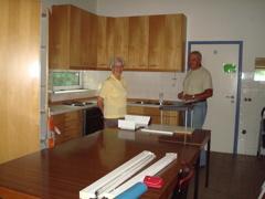 Alte Küche beim Ausräumen