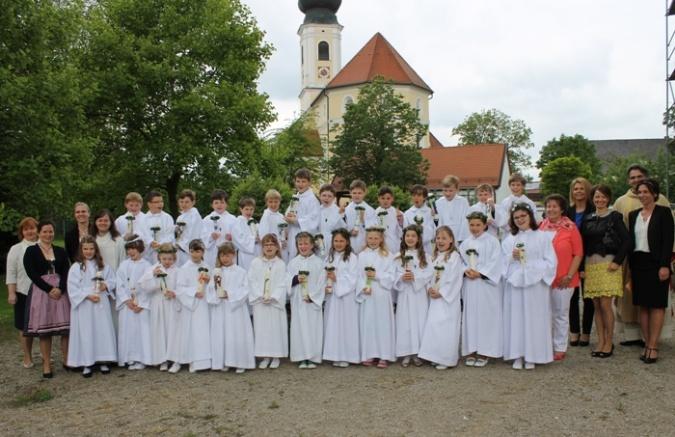Gruppenbild Erskommunion 2014
