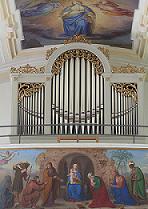 Orgelprospekt von Wallfahrtskirche Mariä Heimsuchung auf dem Mühlberg