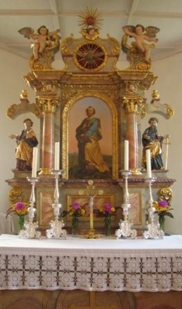 Altar Langenpreisinger Peterskirche
