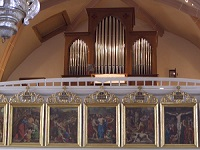 Orgel der Pfarrkirche Hl. Simon und Juda in Gollenshausen