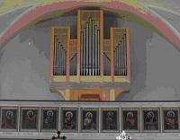 Orgel der Pfarrkirche St. Georg in Unterbiberg