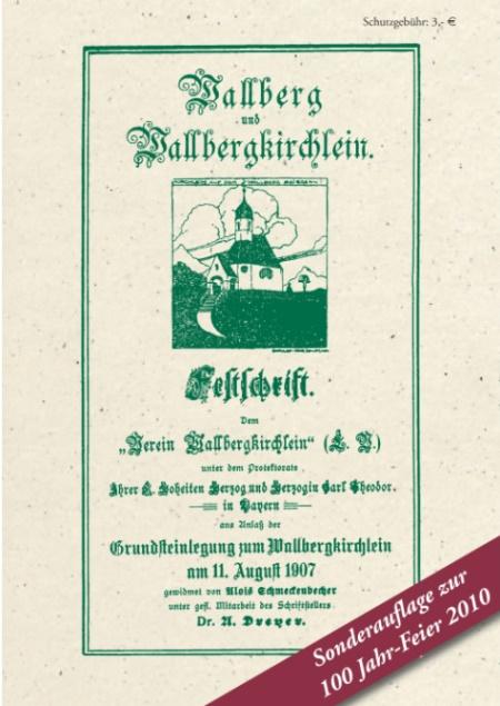 Festschrift Wallbergkircherl Einband Deckel klein